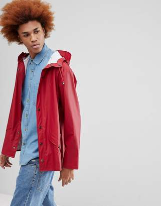 Rains 1201 Jacket In Red