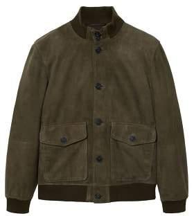 MANGO Flap-pocket suede jacket