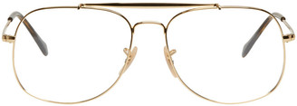 Ray-Ban Gold 'The General' Aviator Glasses $165 thestylecure.com