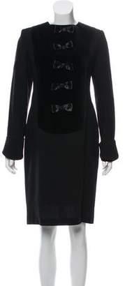 Lanvin Bow-Embellished Long Sleeve Dress