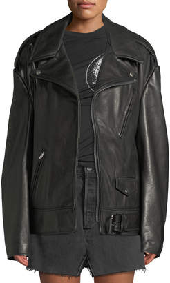 Vetements Emo Leather Moto Jacket