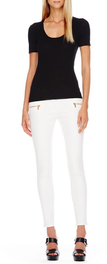 Michael Kors Zip-Pocket Skinny Jeans