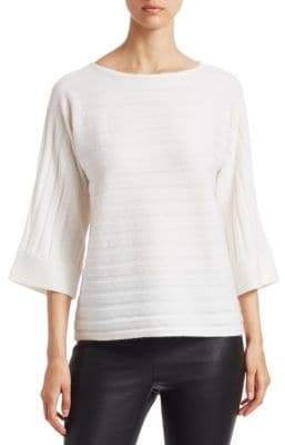 Saks Fifth Avenue Ribbed Boatneck Sweater
