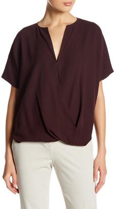 VINCE. Surplice Short Sleeve Silk Shirt $295 thestylecure.com