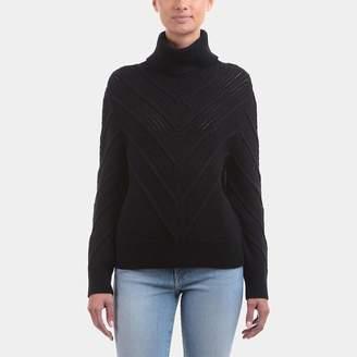 Frame Chevron Turtleneck Sweater