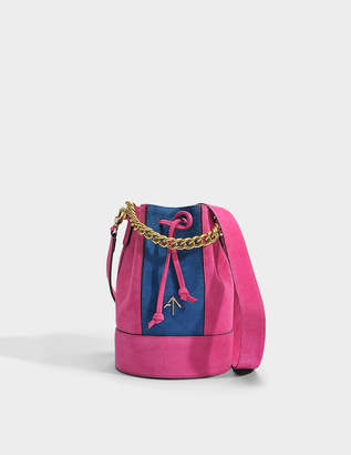Bugatti Zeal Bag in Fuchsia and Suede