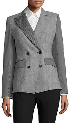 NVLT Double Breasted Cotton-Blend Blazer
