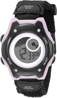 Hudson American Design Machine Jr. Kids' ADSG 5003 PNBK Digital Display Japanese Quartz Black Watch