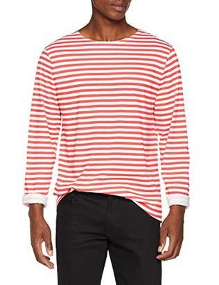 20b3a05593f Vintage Supply Men s Breton Stripe Long Sleeve Regular Fit Striped Crew  Neck Long Sleeve T -