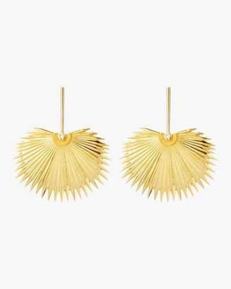 Essere Royal Fan Palm Leaf Earrings