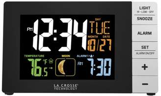 La Crosse Technology Color Alarm Clock with Temperature and USB Port