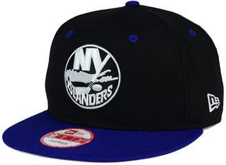 New Era New York Islanders Black White Team Color 9FIFTY Snapback Cap