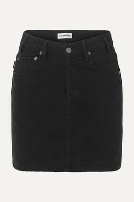 Balenciaga Denim Mini Skirt - Black