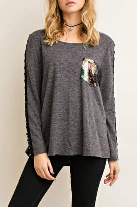 Entro Touch Of Sequin Top