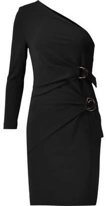 Roberto Cavalli One-Shoulder Stretch-Jersey Mini Dress