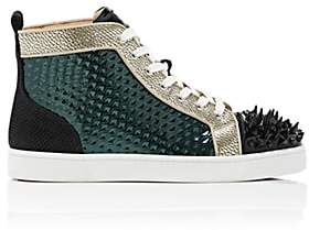 Christian Louboutin Men's Louis Pik-Bis Flat Sneakers - Black