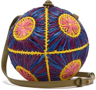 SOPHIE ANDERSON Saiu woven-raffia cross-body bag