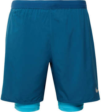 Nike Running Distance Slim-Fit 2-In-1 Dri-Fit Shorts