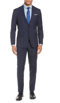 Ted Baker Jay Trim Fit Plaid Wool Suit
