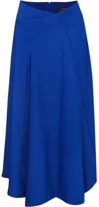 Joseph Percy Asymmetric Cady Midi Skirt - Blue