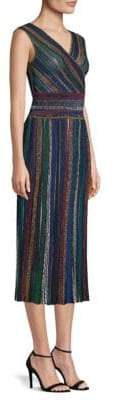 Missoni Striped Faux-Wrap Midi Dress