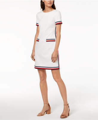 Tommy Hilfiger Striped Short-Sleeve Dress, Created for Macy's