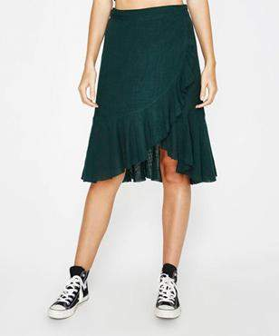 Rue Stiic Sofia Skirt Solid Green