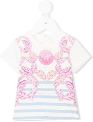 Versace Medusa leaf print T-shirt