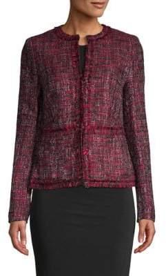 Donna Karan Fringed Tweed Jacket