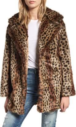 Heartloom Mika Leopard Faux Fur Jacket