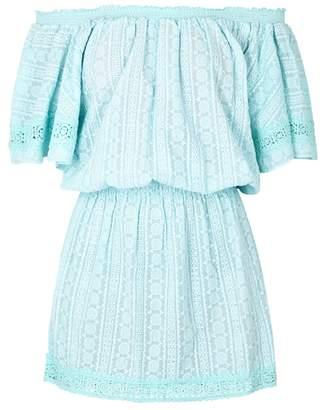 Melissa Odabash Michelle Embroidered Cotton Mini Dress
