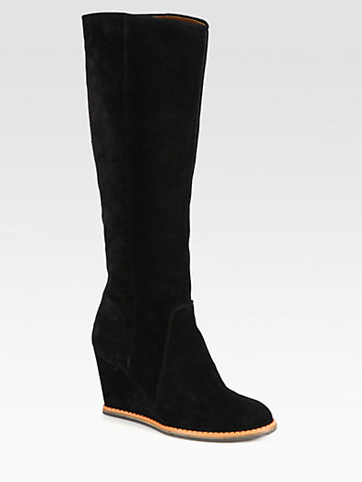 Kate Spade Sanabel Suede Knee-High Wedge Boots