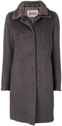 Herno concealed button coat