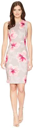 Calvin Klein Floral Scuba Sheath Dress CD8MT7EH Women's Dress