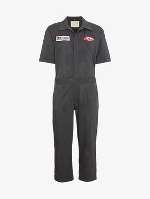 R 13 oversized stripe mechanic jumpsuit