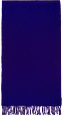 Paul Smith Blue Plain Scarf