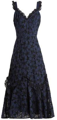 Rebecca Taylor Adriana Broderie Anglaise Dress - Womens - Navy