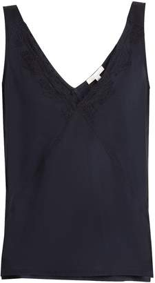 SKIN Quincey lace-trimmed cami top