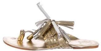 Figue Tassel Thong Sandals