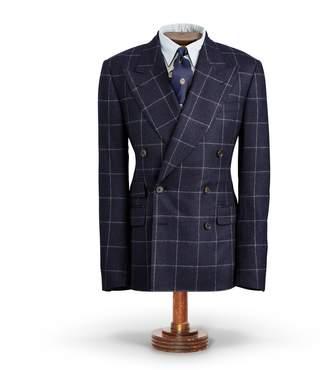 Ralph Lauren Windowpane Flannel Suit Jacket