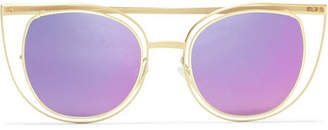 Thierry Lasry Eventually Cat-eye Gold-tone Sunglasses