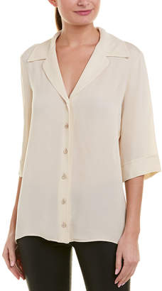 Gucci 3/4-Sleeve Silk-Blend Blouse