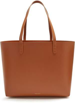 Mansur Gavriel Tan-brown lined large leather tote bag