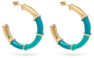Rosantica By Michela Panero - Show Enamelled Hoop Earrings - Womens - Green