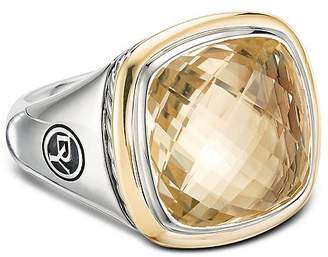 David Yurman Sterling Silver & 18K Yellow Gold Albion Champagne Citrine Ring