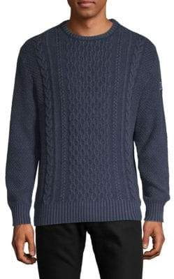Paul & Shark Cable Knit Wool Sweater