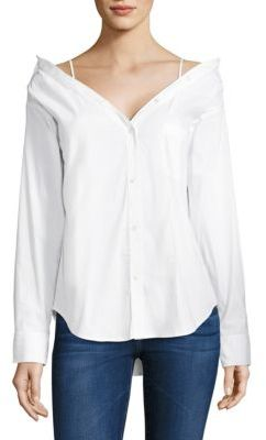 Bailey 44 Stoked Cold-Shoulder Shirt $188 thestylecure.com