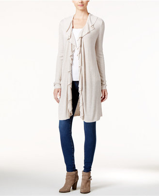 INC International Concepts Ruffled Duster Cardigan, Only at Macy's $79.50 thestylecure.com