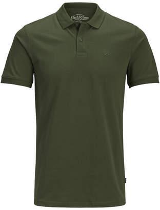 Jack and Jones Men's Originals Basic Polo Shirt - Olive Night
