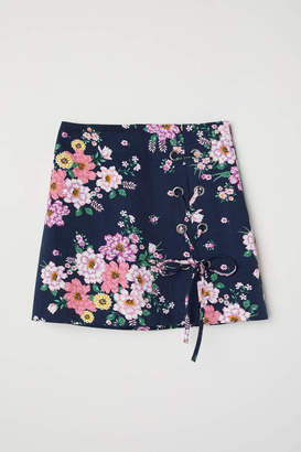 H&M Patterned Twill Skirt